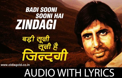 Badi Sooni Hai Zindagi With Dialogue By Amitabh